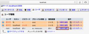 phpMyAdmin_root権限