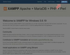 XAMPP_phpMyAdminWeb