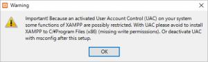 XAMPP警告
