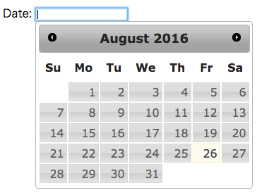 jQuery UIカレンダープラグインDatepickerの使い方